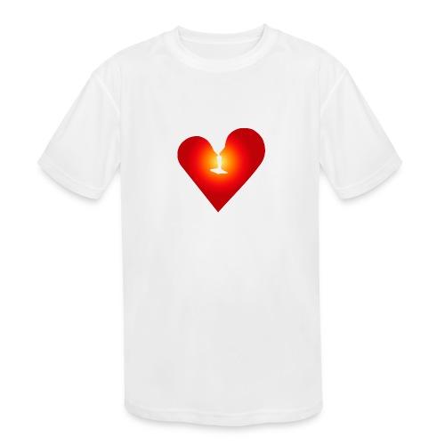 Loving heart - Kids' Moisture Wicking Performance T-Shirt