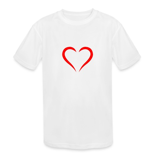 open heart - Kids' Moisture Wicking Performance T-Shirt