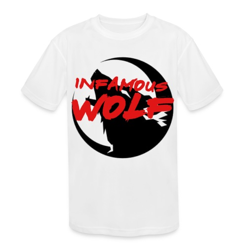 Infamous Wolf shirt(kid) - Kid's Moisture Wicking Performance T-Shirt