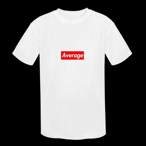 Average Supreme Logo Mockup - Kids' Moisture Wicking Performance T-Shirt