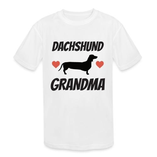 Dachshund Grandma - Kids' Moisture Wicking Performance T-Shirt