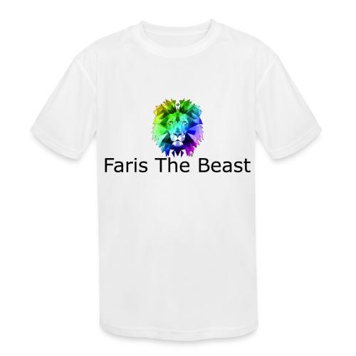 Faris The Beast Text w/ Logo - Kids' Moisture Wicking Performance T-Shirt