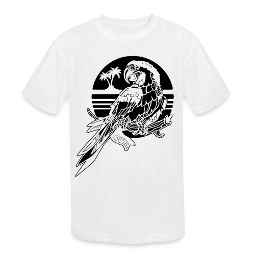Tropical Parrot - Kids' Moisture Wicking Performance T-Shirt