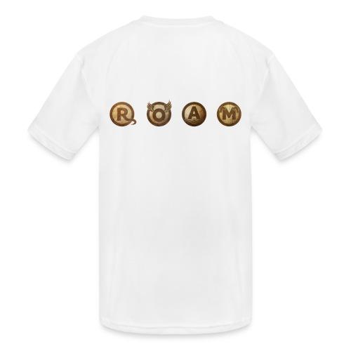 ROAM letters sepia - Kids' Moisture Wicking Performance T-Shirt