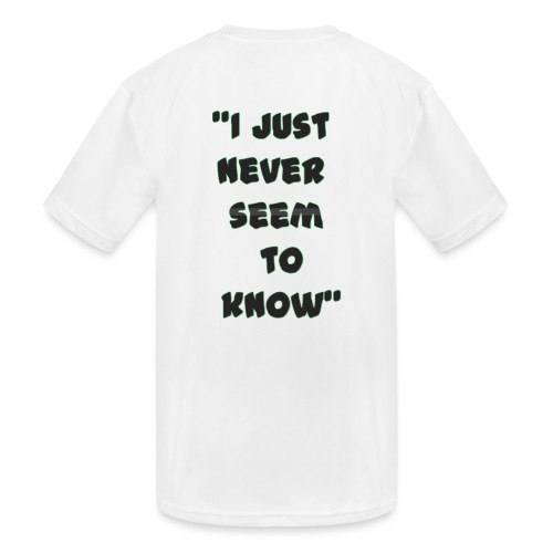 know png - Kids' Moisture Wicking Performance T-Shirt