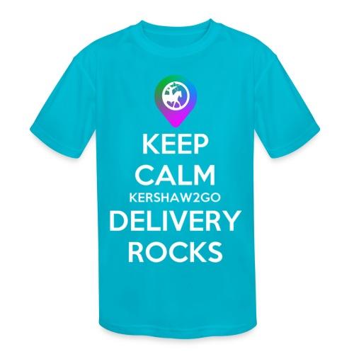 Keep Calm Kershaw2Go Delivery Rocks - Kids' Moisture Wicking Performance T-Shirt