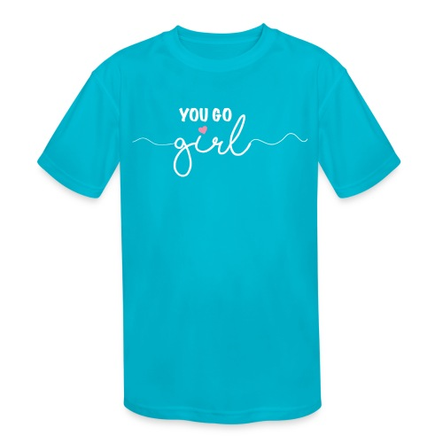 Girl Power - Kids' Moisture Wicking Performance T-Shirt