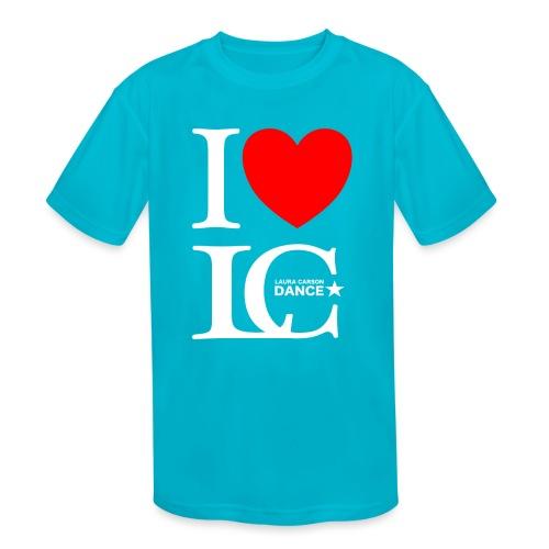 I Heart LCDance - Kids' Moisture Wicking Performance T-Shirt