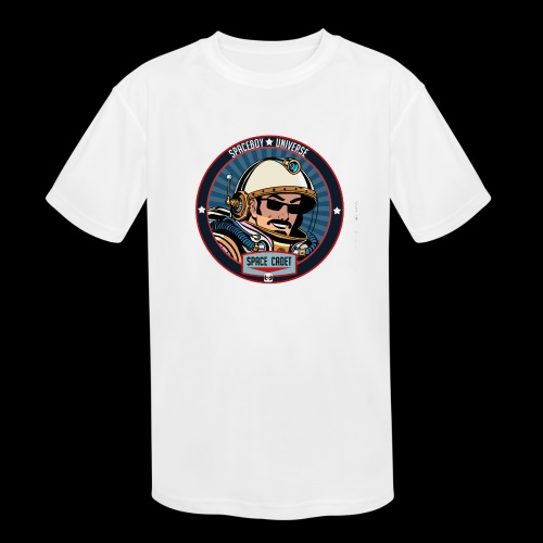 Spaceboy - Space Cadet Badge - Kids' Moisture Wicking Performance T-Shirt