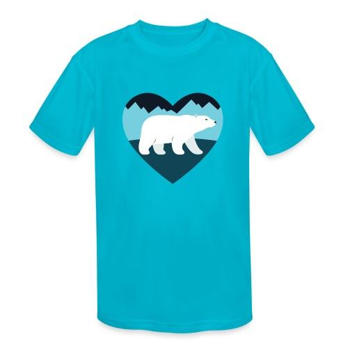 Polar Bear Love - Kids' Moisture Wicking Performance T-Shirt