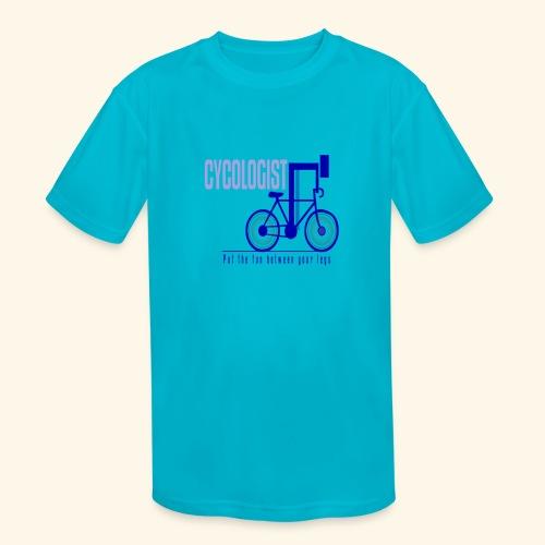 Cycologist T Shirt for Men, Women, Kids, Babies - Kids' Moisture Wicking Performance T-Shirt