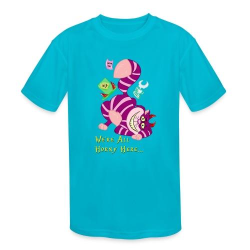 Cheshire Cat - Kids' Moisture Wicking Performance T-Shirt