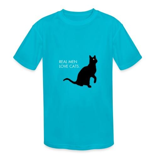 Real Men... - Kids' Moisture Wicking Performance T-Shirt