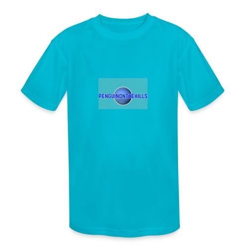 PENGUINONTHEHILLS LOGO - Kids' Moisture Wicking Performance T-Shirt