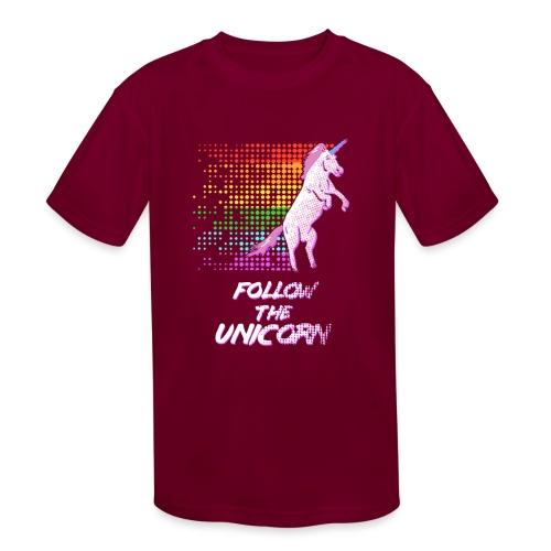 Follow The Unicorn - Kids' Moisture Wicking Performance T-Shirt