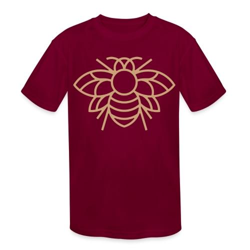 (bee_gold) - Kids' Moisture Wicking Performance T-Shirt