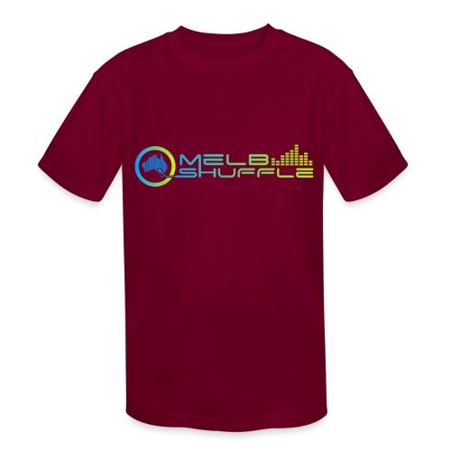 Melbshuffle Gradient Logo - Kids' Moisture Wicking Performance T-Shirt
