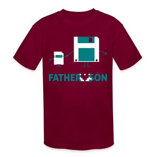 Father and Son - Kids' Moisture Wicking Performance T-Shirt