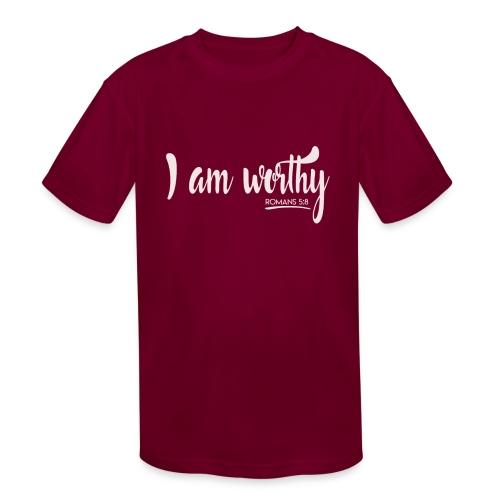 I am worth Romans 5:8 - Kids' Moisture Wicking Performance T-Shirt