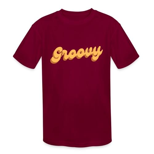 Vintage Groovy - Kids' Moisture Wicking Performance T-Shirt