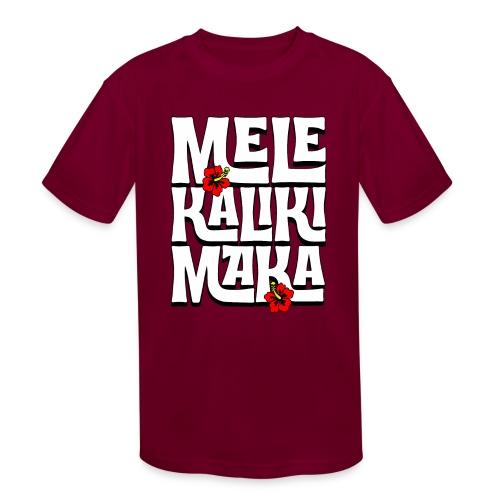 Mele Kalikimaka Hawaiian Christmas Song - Kids' Moisture Wicking Performance T-Shirt