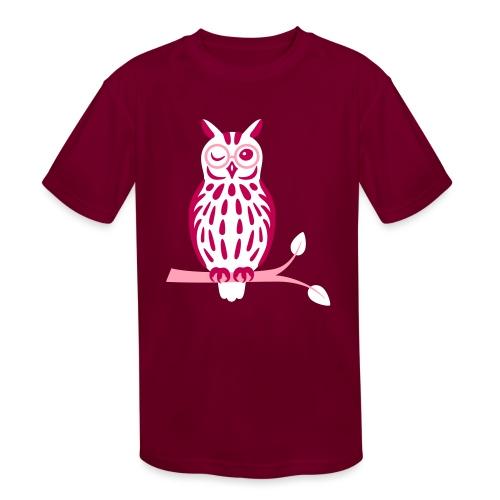 Winky Owl - Kids' Moisture Wicking Performance T-Shirt