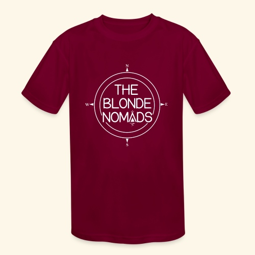 The Blonde Nomads logo WHITE - Kids' Moisture Wicking Performance T-Shirt