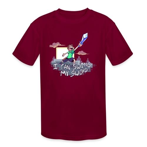 I Can Swing My Sword - Kids' Moisture Wicking Performance T-Shirt
