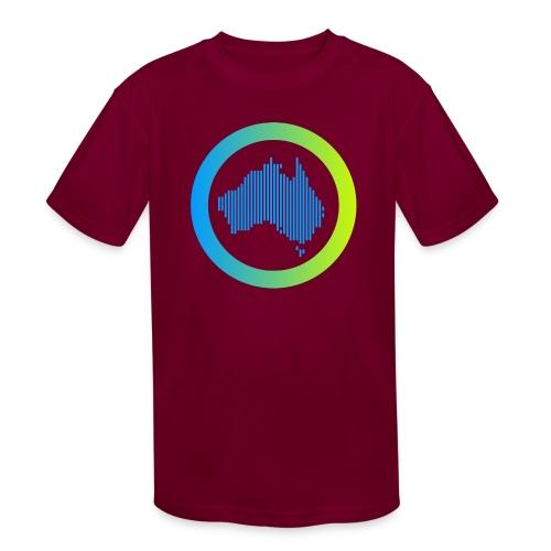 Gradient Symbol Only - Kids' Moisture Wicking Performance T-Shirt