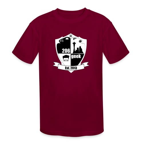 206geek podcast - Kids' Moisture Wicking Performance T-Shirt