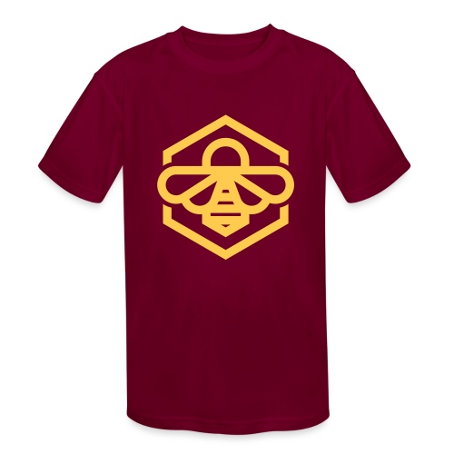 bee symbol orange - Kids' Moisture Wicking Performance T-Shirt