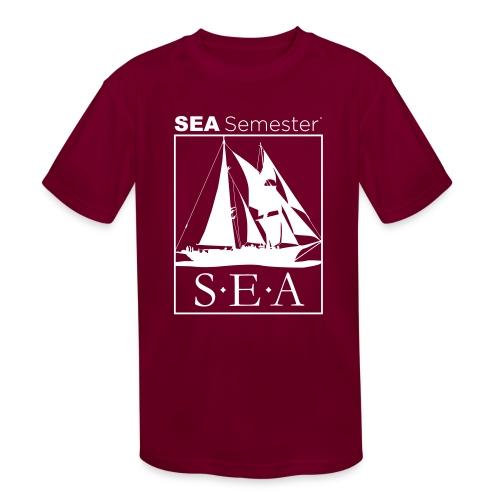 SEA_logo_WHITE_eps - Kids' Moisture Wicking Performance T-Shirt