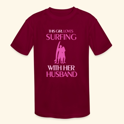 Surf Shirts Womens for Men, Women, Kids, Babies - Kids' Moisture Wicking Performance T-Shirt