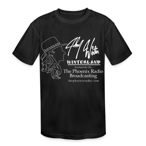 Johnny Winter's Winterland - Kid's Moisture Wicking Performance T-Shirt