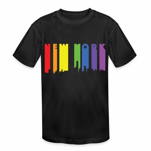 New York design Rainbow - Kids' Moisture Wicking Performance T-Shirt