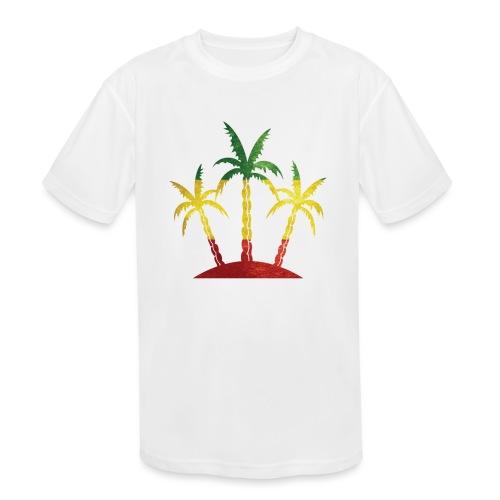 Palm Tree Reggae - Kids' Moisture Wicking Performance T-Shirt