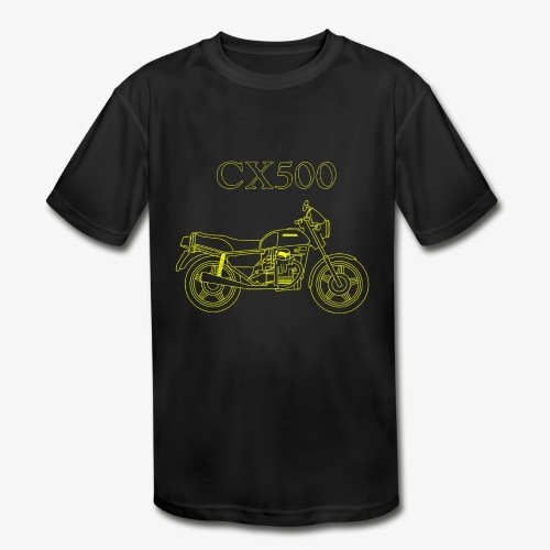 CX500 line drawing - Kids' Moisture Wicking Performance T-Shirt