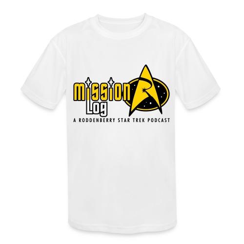 Logo Wide 2 Color Black Text - Kids' Moisture Wicking Performance T-Shirt