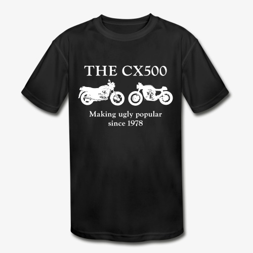 The CX500: Making Ugly Popular Since 1978 - Kids' Moisture Wicking Performance T-Shirt