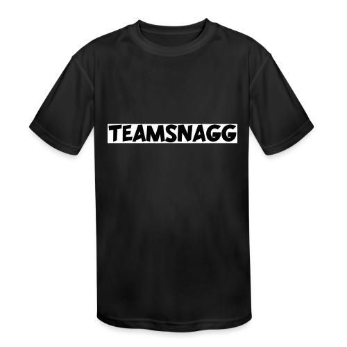 TeamSnagg Logo - Kids' Moisture Wicking Performance T-Shirt