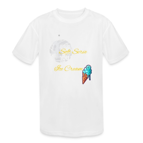 Soft Serve Ice Cream Volleyball - Kids' Moisture Wicking Performance T-Shirt