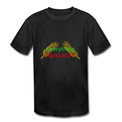 Everything Agriculture LOGO - Kids' Moisture Wicking Performance T-Shirt