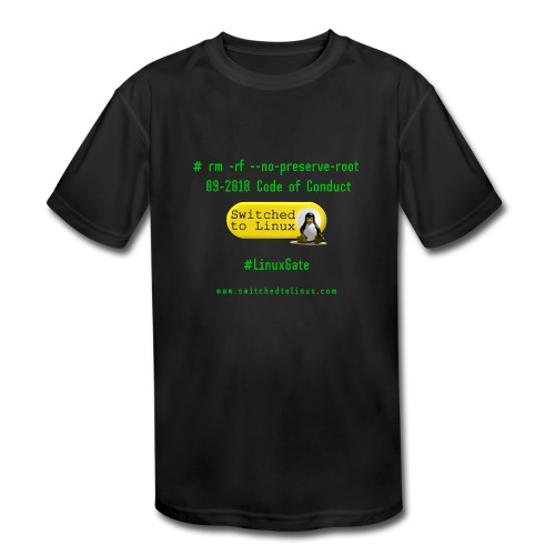 rm Linux Code of Conduct - Kids' Moisture Wicking Performance T-Shirt