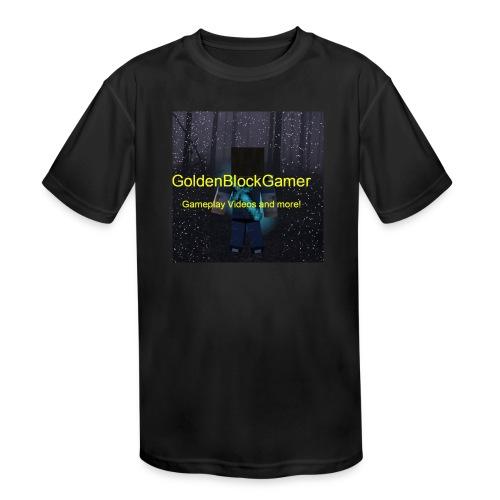 GoldenBlockGamer Tshirt - Kids' Moisture Wicking Performance T-Shirt