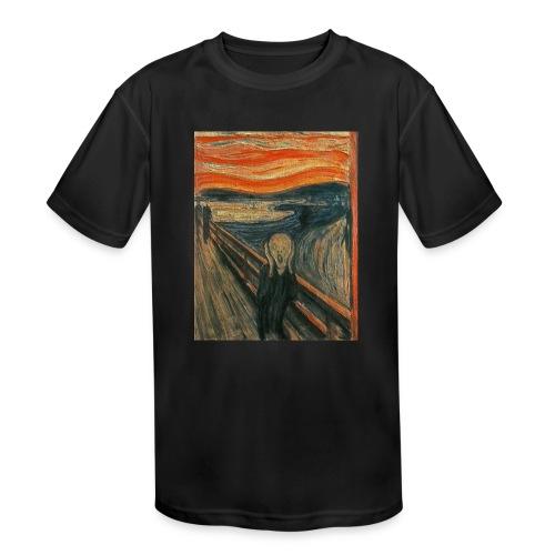 The Scream (Textured) by Edvard Munch - Kids' Moisture Wicking Performance T-Shirt