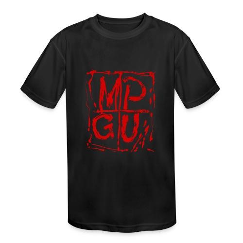 MPGU RED STROKE - Kids' Moisture Wicking Performance T-Shirt