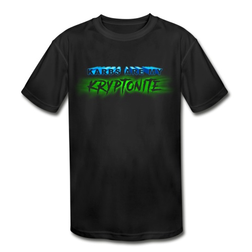 Karbs Are My Kryptonite - Kids' Moisture Wicking Performance T-Shirt