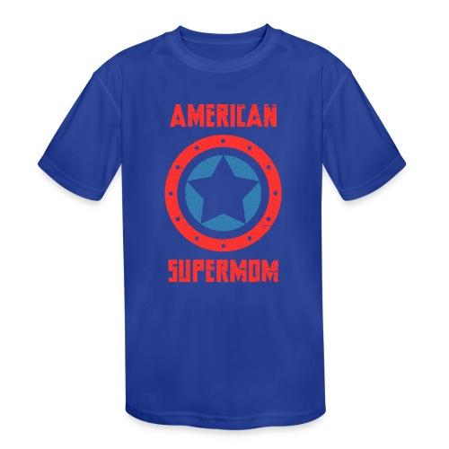 American Supermom - Kids' Moisture Wicking Performance T-Shirt