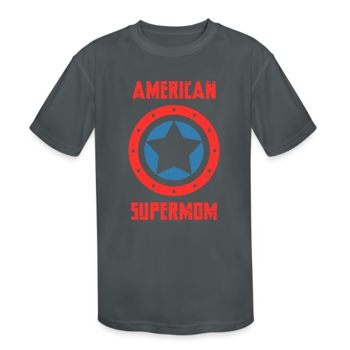 American Supermom - Kids' Moisture Wicking Performance T-Shirt
