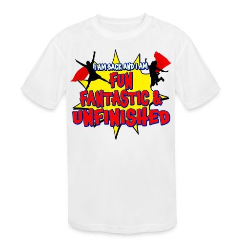 Unfinished girls jumping - Kids' Moisture Wicking Performance T-Shirt
